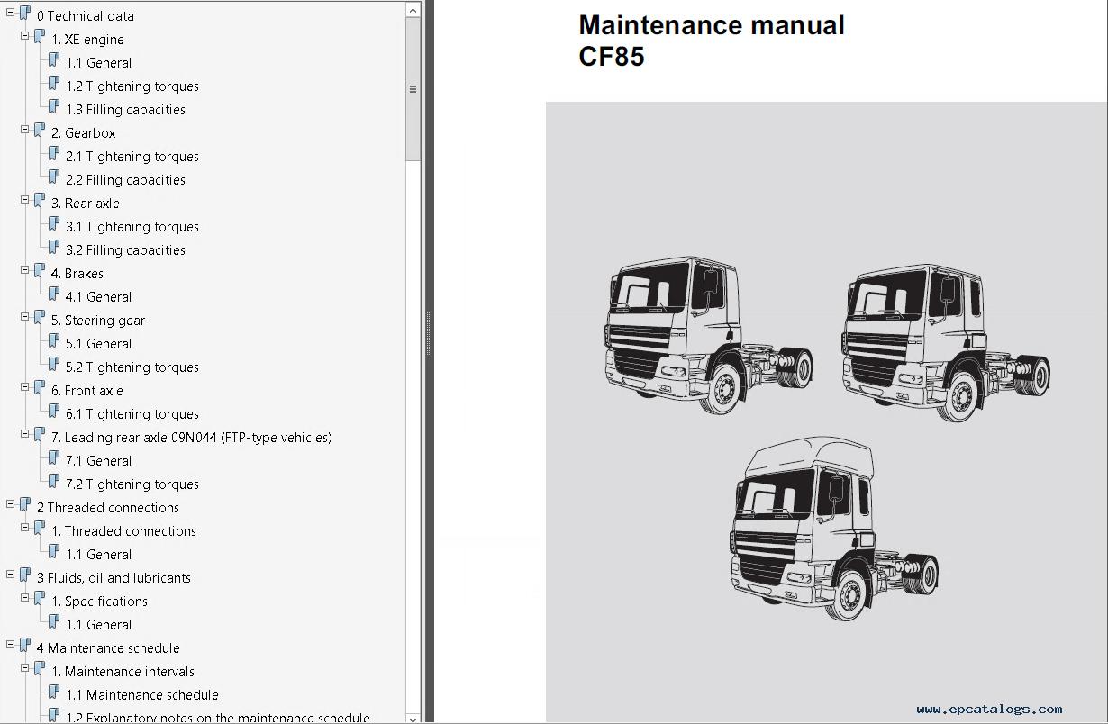 daf trucks series 95xf cf65 cf75 cf85 lf45 lf55 workshop manual pdf?resize=665%2C435&ssl=1 interesting daf wiring diagram contemporary wiring schematic  at webbmarketing.co