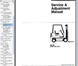 Clark Service Manual SM 538 NSNP 246 (PM), repair manual, Forklift Trucks  Manuals