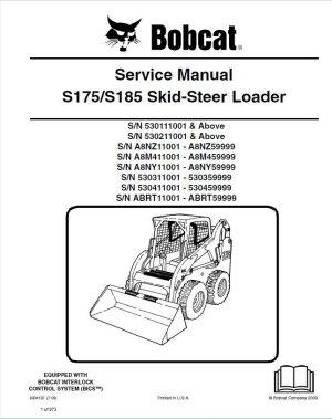 Bobcat S175S185 Skid Steer Loader PDF Service Manual