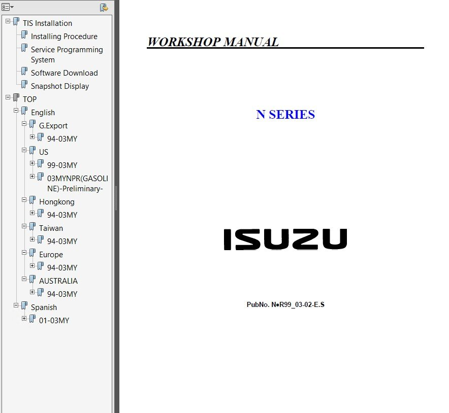 Isuzu N Series Nhr Nkr Npr Nqr Nps Service Repair Manual on Isuzu Npr Truck Wiring Diagram Pdf