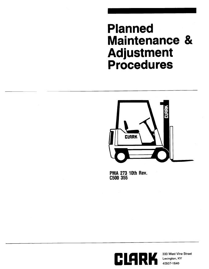 clark c500 355 pma 273 10th planned maintenance adjustment procedures pdf clark np 30 forklift wiring diagram wiring wiring diagram schematic  at bayanpartner.co