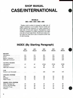 Case IH Tractors 385485585685885 Shop Manual PDF