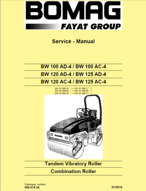 Bomag BW100120125 ADAC4 Rollers Service Manual PDF