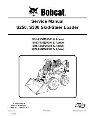 Bobcat S250, S300 SkidSteer Loader Service Manual PDF