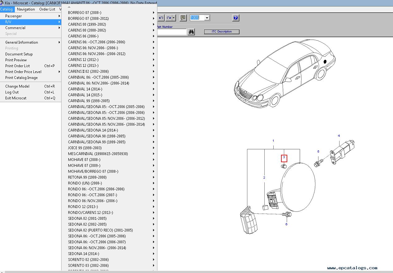 Kia Microcat Spare Parts Catalog Spare Parts Catalog