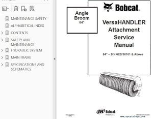 Bobcat Angle Broom Service Manual PDF