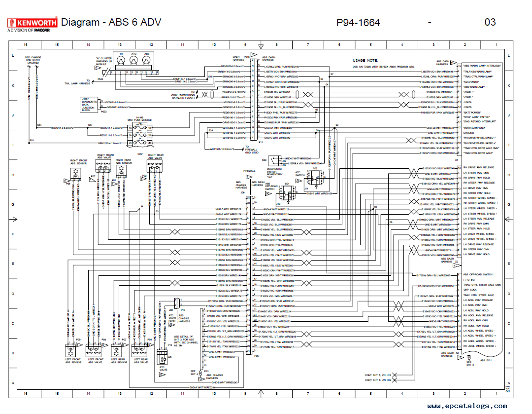 Kenworth t wiring schematic fuse panel