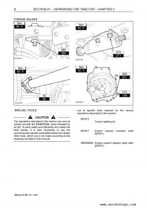 New Holland T6000 series Repair Manual PDF