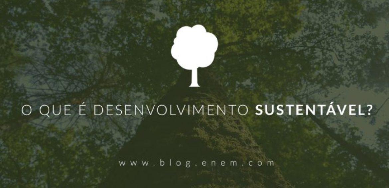 O que é desenvolvimento sustentável?