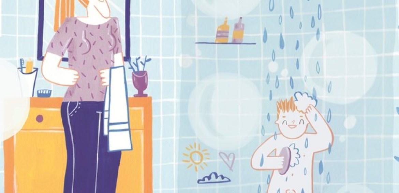 Ensine o seu filho a tomar banho sozinho