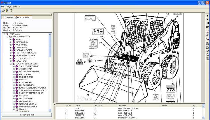 Bobcat Spare Parts List | Newmotorjdi co