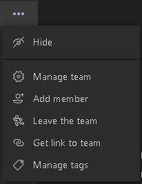 Add a team member in Microsoft Teams