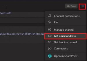 Get Email Address Microsoft Teams