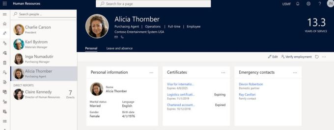 Microsoft Dynamics HR