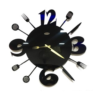 wall clock kitchen theme