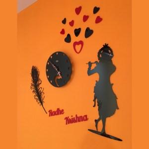 Wall Clock Radhe Krishna Theme