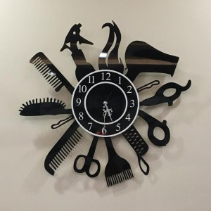 Wall clock Saloon Theme