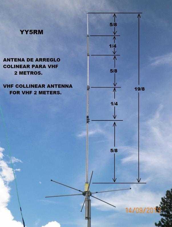 Antena de arreglo colineal VHF para la banda de 2m
