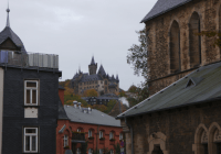 Castle in Wernigerode on a hill