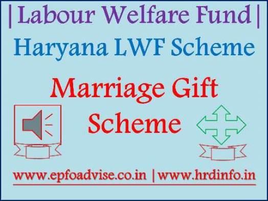 Haryana Labour Welfare Marriage Gift Scheme