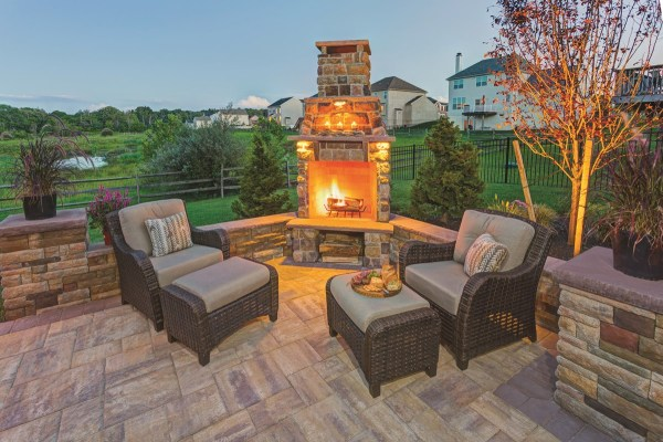 paver patio designs with fireplace EP Henry | Design Ideas - EP Henry
