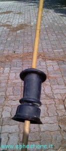 cut rubber drain