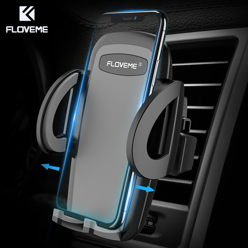 8583b85d574379 FLOVEME One-Click Release Car Phone Holder Universal Air Vent Mount Car  Holders Stand Mobile ...