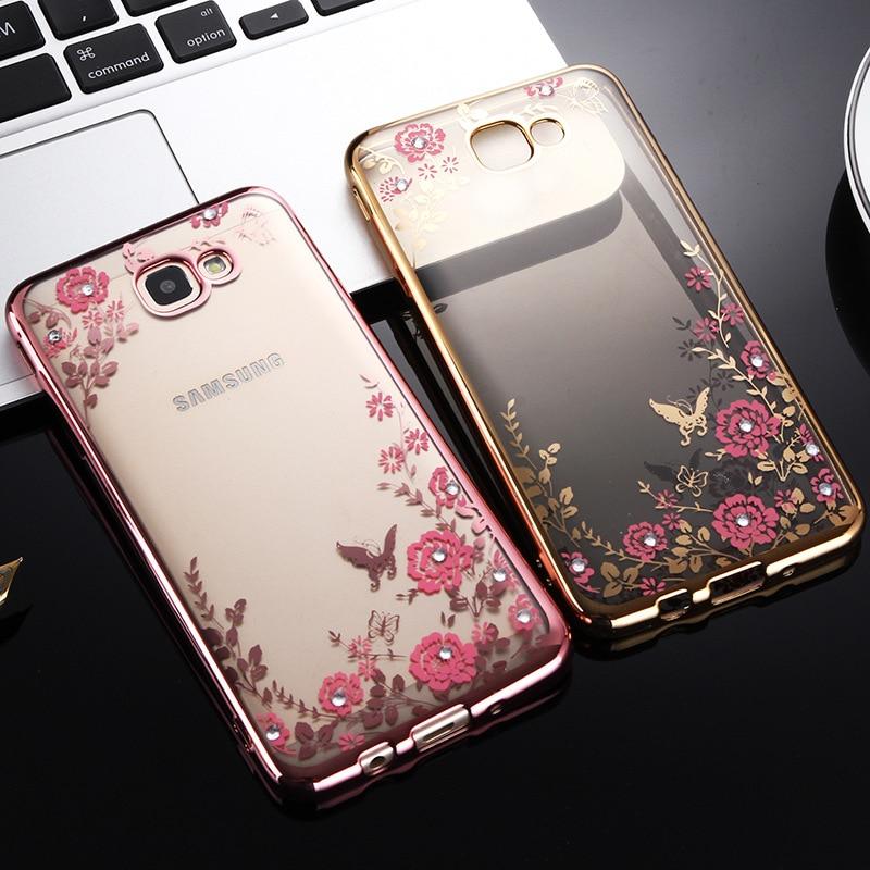 87a13da3fe2 Luxury Flower Silicone Cases for Samsung Galaxy J2 J3 J5 J7 2017 A3 A5 A7  2016 ...