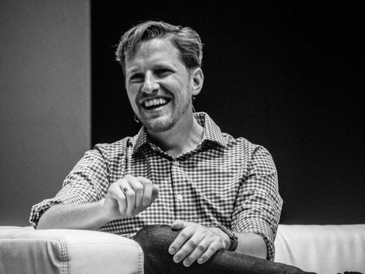 Matt Mullenweg at WCEU 2016 Vienna. Photo by Tammy Lister.