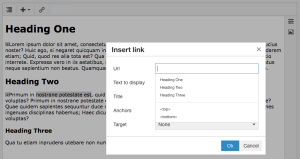 Enhanced linking with headings