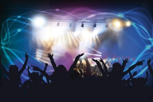 rock concert with audience
