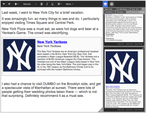 Cognitive Assistant demo_Screen Shot 2_Trip to NY