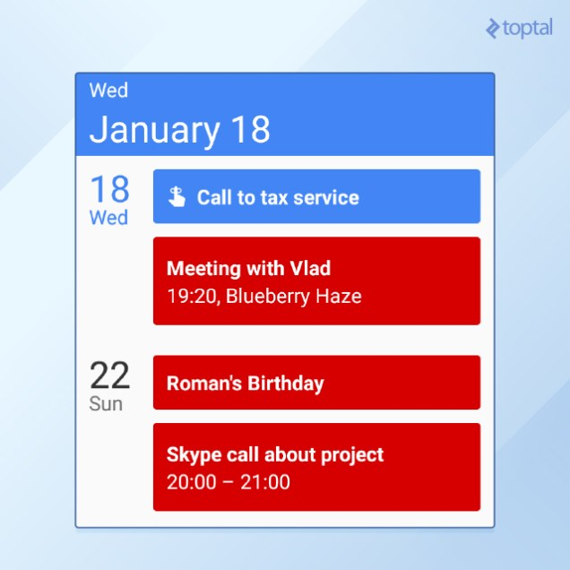 How to set up your calendar