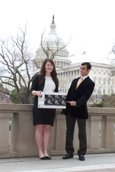 EPIC Program Associate Taif Jany and Spring 14 intern Alicia Sornson deliver the petition to Capitol Hill