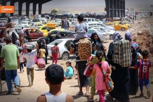 Iraqi citizens fled Mosul after it was captured by ISIS