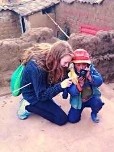 Jessica in Chinchero, Peru.