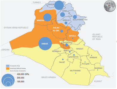 Displacement Snapshot from July 24th. Courtesy of UN OCHA