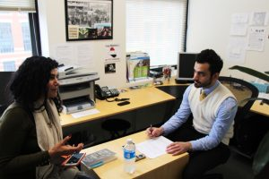 Amal al-Jubouri (left) with Taif Jany (right) on Iraq Matters.