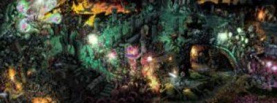 Schermo del DM di Dungeon World disegnato da Nate Marcel