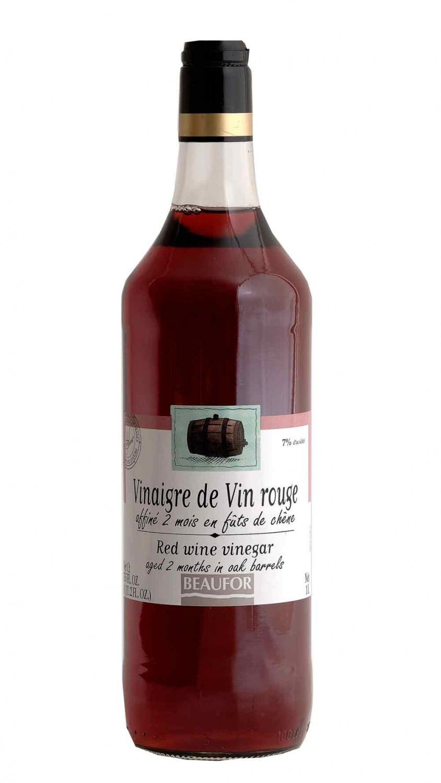 vinaigre vin rouge affine en futs de chene bouteille 1 litre