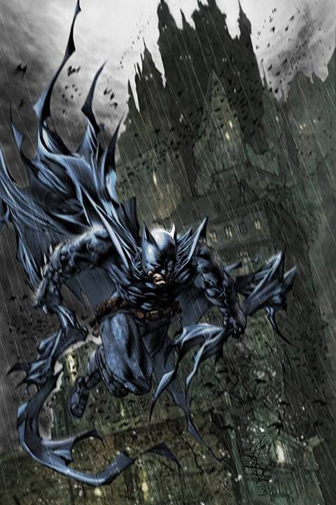 Cool Batman Art With Backdrop Epic Geekdom