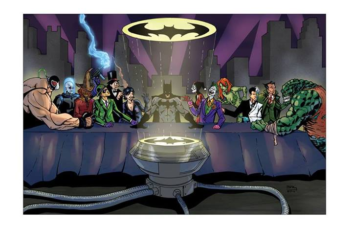 Batmans Last Supper Epic Geekdom