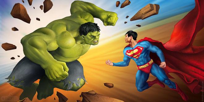 Hulk Vs Superman - Epic Showdown Battle Royal