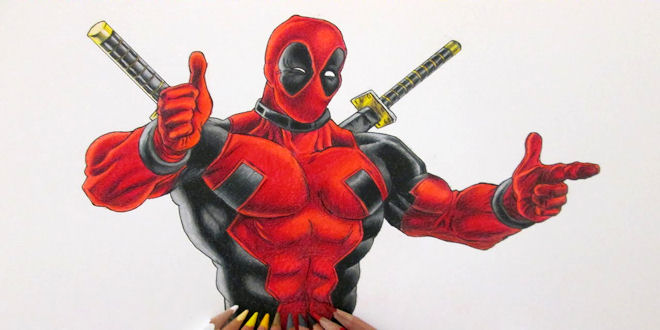 How To Draw Marvel Deadpool Step By Step Video Tutorial