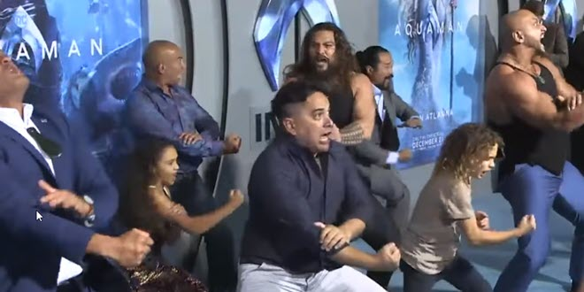 Jason Momoa's Aquaman Haka Dance