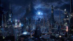 Sci Fi Wallpapers Dark City Lights