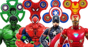 Avengers, Fidget Spinner Go~! Spider-Man, Hulk, Bumblebee! Iron Man, Captain America, Transformer