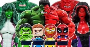 Avengers, Red Hulk, She-Hulk, Spider-Man Go~! Iron Man, Captain America, Tayo, Venom, Thanos