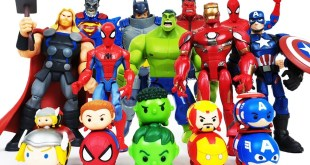 Avengers Transformation! Red Hulk, Iron Man, Spider-Man, Batman, Superman, Captain America, Thor!