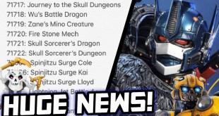 Ninjago Season 13 Sets Revealed! New Transformers Movies in Development! (Beast Wars Movie!)